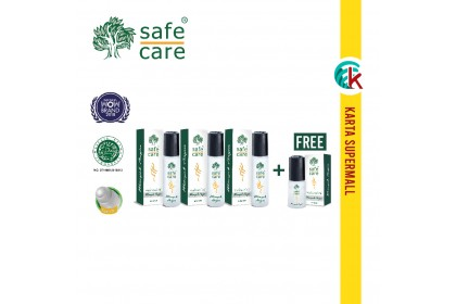 Safe Care Minyak Angin Medicated Oil Roll On 10ml x 3 units FREE 5ml