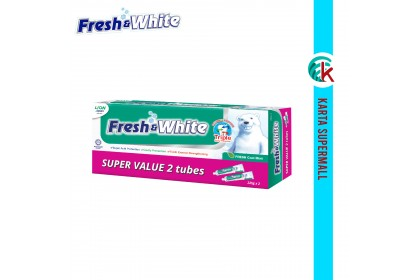 Fresh & White Toothpaste (Fresh Cool Mint) Super Value Pack 225g x 2pcs
