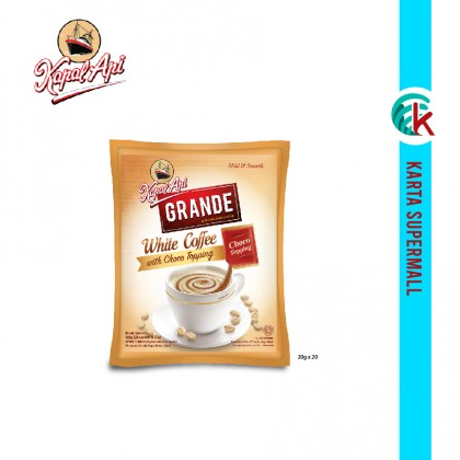 Kapal Api Grande 3 in 1 White Coffee With Choco Topping 20's x 20g