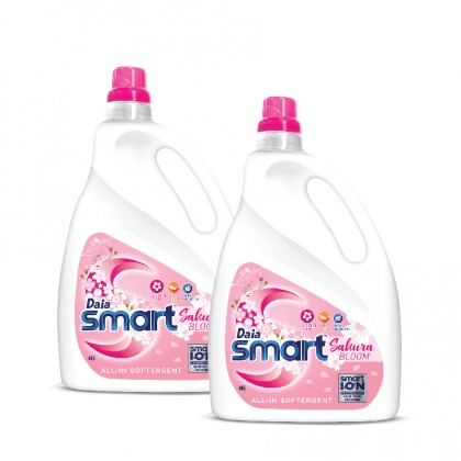 Daia Smart Liquid Detergent All-In Softergent Sakura Bloom 4kg x 2